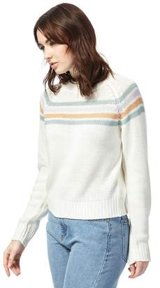 Noisy May White Striped Print Jumper