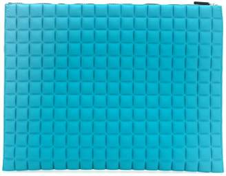 NO KA 'OI No Ka' Oi large grid textured pouch