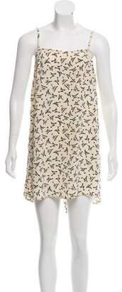 Fendi Printed Sleeveless Mini Dress