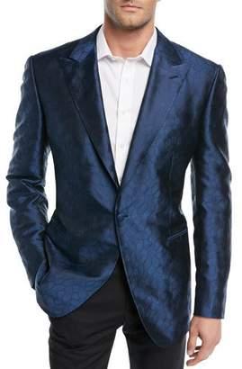 Stefano Ricci Textured-Pattern Silk Dinner Jacket