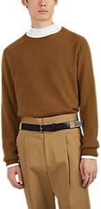 Margaret Howell Men's Cashmere Saddle-Shoulder Sweater - Orange