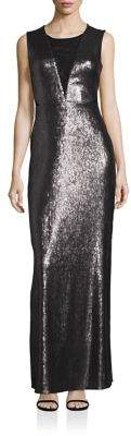 Laundry by Shelli Segal Open-Back Sequin Gown