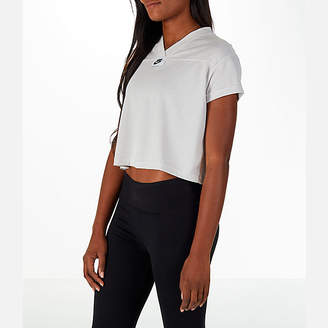 Nike Women's Sportswear Crop V-Neck T-Shirt