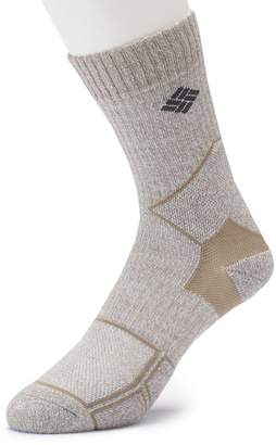 Columbia Men's Lightweight Merino Wool-Blend Hiking Crew Socks