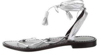 Anine Bing Leather Lace-Up Sandals w/ Tags