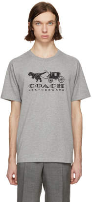 Coach 1941 Grey Embroidered Rexy and Carriage T-Shirt