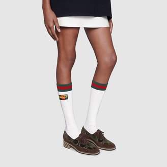 Gucci Women's Dapper Dan Web socks