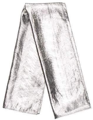 Oscar de la Renta Metallic Woven Scarf