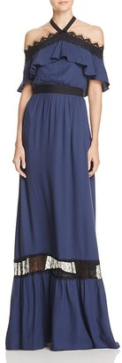 Alice + Olivia Mitsy Off-the-Shoulder Maxi Dress $485 thestylecure.com