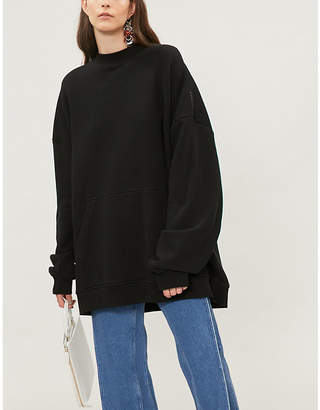 Y/Project Panelled cotton-jersey hoody