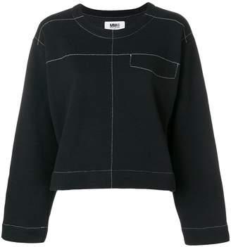 MM6 MAISON MARGIELA exposed stitch sweatshirt