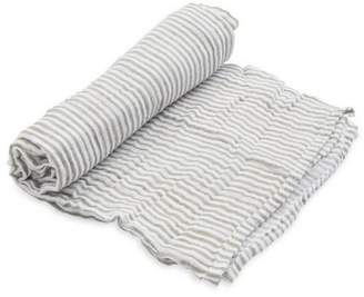 Little Unicorn Grey-Stripe Cotton Swaddle
