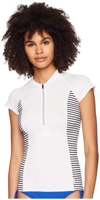 O'Neill Cap Sleeve Sun Shirt Front Zip Women's Swimwear