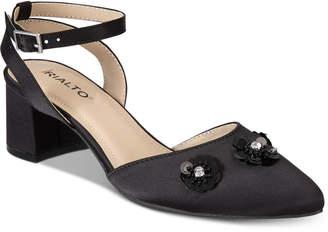 Rialto Marjorie Embellished Block-Heel Evening Pumps Women's Shoes