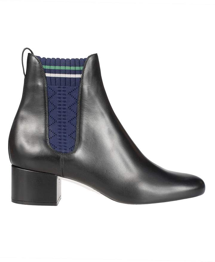 Fendi Knitted Panel Ankle Boots