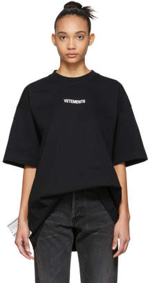 Vetements Black Logo T-Shirt
