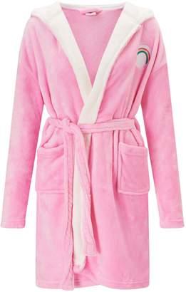 90a2cf77a3 Next Womens Missimo Nightwear Rainbow Bear Care Bear Hooded Fleece Robe