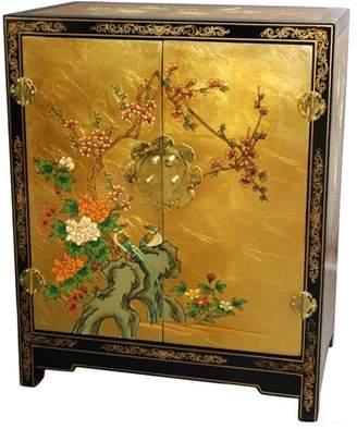 Oriental Furniture Gold Leaf Lacquer Cabinet