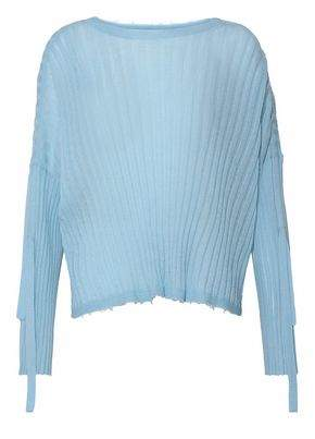Helmut Lang Ribbed-Knit Cashmere Top