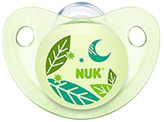 NUK Night & Day Baby Pacifier 6-18 m Silicone Glows in Dark Green Moon 8295-5