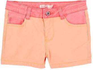 Billieblush KIDS' TWO-TONE COTTON SHORTS