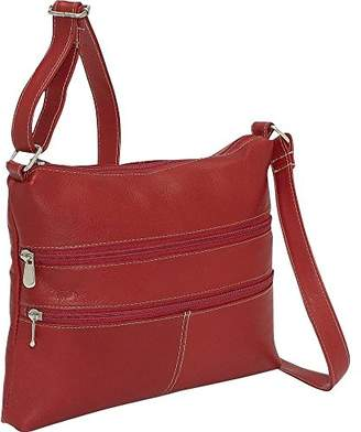 Le Donne Leather Women's Two Zip Cross Body Bag