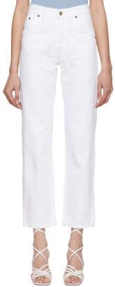 Jacquemus White Le Jean Jeans