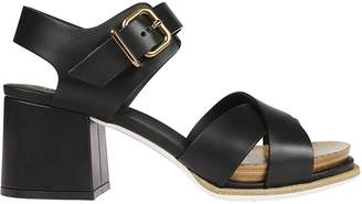 Tod's Wood Detail Sandals