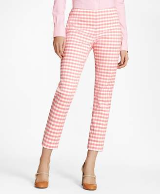 Brooks Brothers Slim-Fit Gingham Double-Weave Pants