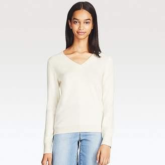 UNIQLO Women's Cashmere V-Neck Sweater $79.90 thestylecure.com