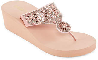 9e4cb1af281a5e MIXIT Mixit Womens Bling Wedge Flip-Flops
