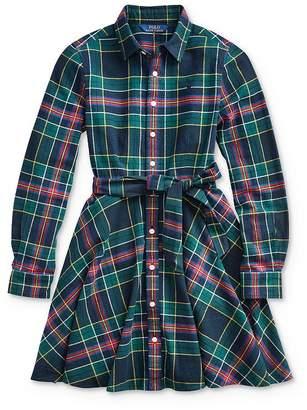 Ralph Lauren Girls' Plaid Shirt Dress - Big Kid
