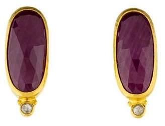 Gurhan 24K Elements Ruby & Diamond Earclip Earrings