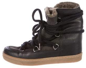 Isabel Marant Nowles Wedge Ankle Boots