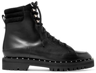 Valentino Garavani Soul Rockstud Leather Ankle Boots - Black