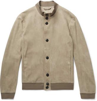Giorgio Armani Unlined Suede Jacket