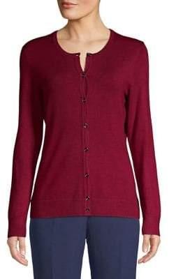 Jones New York Classic Button-Down Sweater