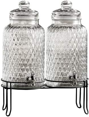 Jay Import Clear Douglas Beverage Dispenser - Set of 2