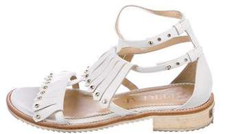 Aperlaï Leather Kiltie Sandals