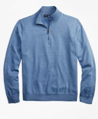 Brooks Brothers (ブルックス ブラザーズ) - スーピマコットン ハーフジップ モックネックセーター
