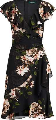 Ralph Lauren Floral-Print Surplice Dress