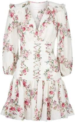 Zimmermann Floral Print Corset Dress