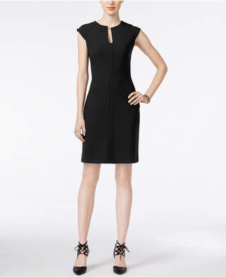 Bar III Split-Neck Bodycon Dress