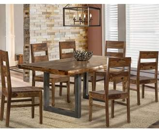 Hillsdale Furniture Emerson 7 Piece Dining Set in Natural Sheesham