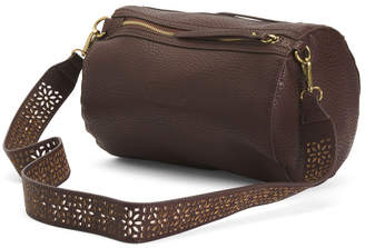 Leather Round Duffel