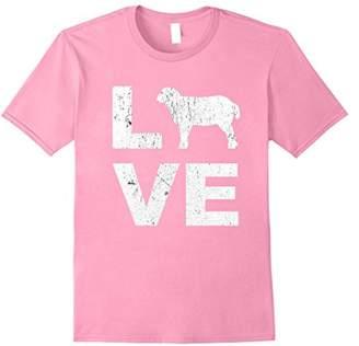 LOVE Sheep Animal Lovers FFA Distressed Graphic T-Shirt