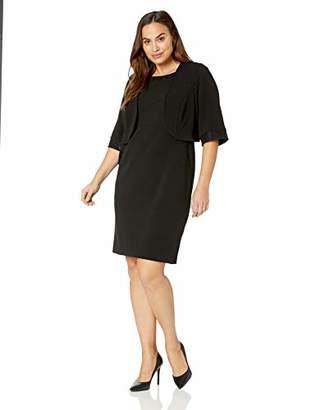 Maya Brooke Women's Plus Size Sequin Detailed Jacket Dress