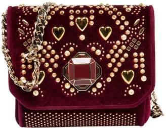 Elie Saab Burgundy Velvet Handbag