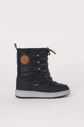 H&M Waterproof Winter Boots - Black