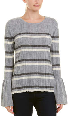 Design History Cashmere Pleated Cuff Top